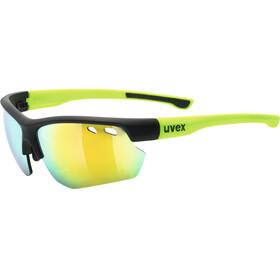 UVEX Sportstyle 115 Sportglasses black matt yellow/mirror yel